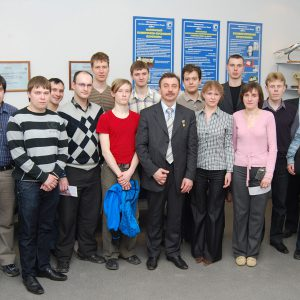 2010 г., космонавт Лазуткин Александр Иванович на встрече с сотрудниками МОКБ