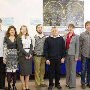 2011 г., летчик-космонавт Юрчихин Федор Николаевич с сотрудниками МОКБ
