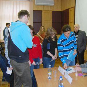 2013 г., летчик-космонавт Волк Игорь Петрович на встрече с сотрудниками МОКБ